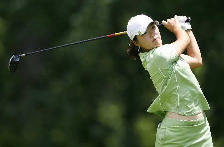 SYLVANIA, OH - JULY 12:  Angela Park of Brazil hits her tee shot on the ninthth hole during the first round of the Jamie Farr Owens Corning Classic at Highland Meadows Golf Club July 12, 2007 in Sylvania, Ohio. (Photo by Hunter Martin/Getty Images)