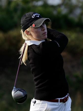 INCHEON, SOUTH KOREA - OCTOBER 30:  Morgan Pressel of United States hits a tee shot on the first hole during the 2010 LPGA Hana Bank Championship at Sky 72 Golf Club on October 30, 2010 in Incheon, South Korea.  (Photo by Chung Sung-Jun/Getty Images)