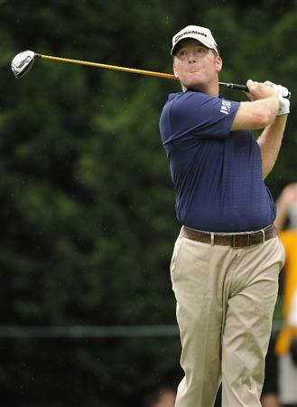 BETHESDA, MD - JULY 03:  D.A. Points hits tee second shot on the 5th hole during the second round of the AT&T National at the Congressional Country Club on July 3, 2009 in Bethesda, Maryland  (Photo by Mitchell Layton/Getty Images)