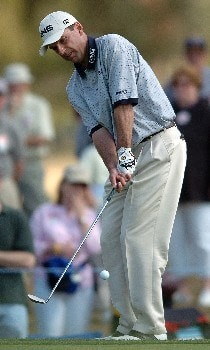 Kevin Sutherland in action during the third round of the PGA's Tour 2005 Chrysler Classic of Tucson at the Omni Tucson National Golf Resort & Spa February 26, 2005 in Tuscon, Arizona.