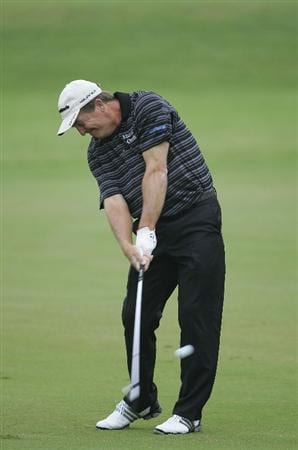 CARY, NC - SEPTEMBER 26:  Fred Funk plays a shot from the fairway during the second round of the SAS Championship at Prestonwood Country Club held on September 26, 2009 in Cary,  North Carolina.  (Photo by Michael Cohen/Getty Images)