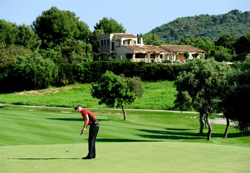 MALLORCA, SPAIN - MAY 16:  Stephan Gross Junior of Germany putting on the fourth hole during the final round of the Open Cala Millor Mallorca at Pula golf club on May 16, 2010 in Mallorca, Spain.  (Photo by Stuart Franklin/Getty Images)