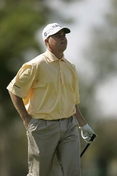 Hunter Haas on the 4th hole during the 1st round of the Chitimacha Open being held at Le Triomphe Golf Club in Broussard, Louisiana on March 24, 2005.