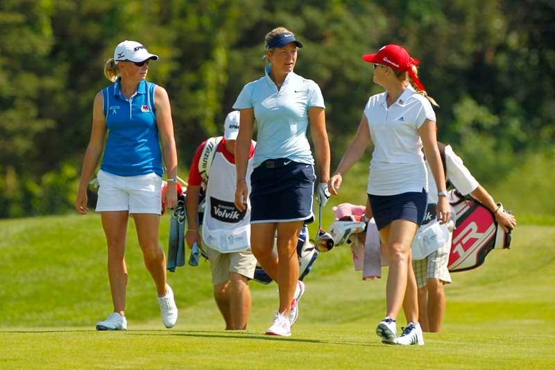 Stacy Lewis, Suzann Pettersen and Paula Creamer