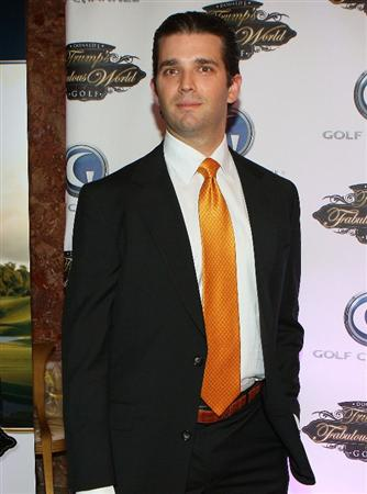 NEW YORK - MARCH 31:  Donald Trump Jr. poses for a photo prior to a special screening of Golf Channel's new celebrity reality series, Donald J Trump's Fabulous World of Golf on March 31, 2010 at Trump Towers in New York, New York.  (Photo by Mike Stobe/Getty Images for Golf Channel)