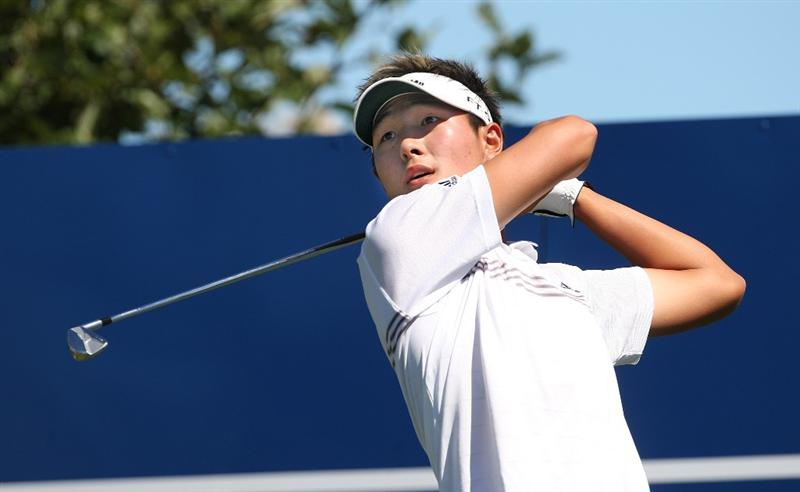 CHRISTCHURCH, NEW ZEALAND - MARCH 07:  Danny Lee of New Zealand tees off during day three of the New Zealand PGA Championship at Clearwater Golf Club on March 7, 2009 in Christchurch, New Zealand.  (Photo by Marty Melville/Getty Images)