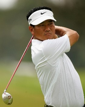 MIAMI - MARCH 20:  KJ Choi of South Korea tees off on the second hole during the first round of the 2008 World Golf Championships CA Championship at the Doral Golf Resort & Spa, on March 20, 2008 in Miami, Florida.  (Photo by Warren Little/Getty Images)
