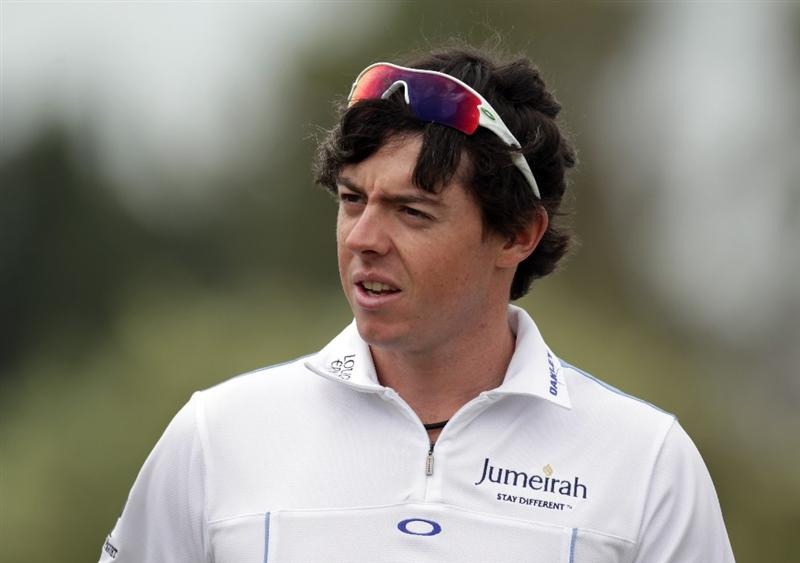 CASARES, SPAIN - MAY 17:  Rory McIlroy of Northern Ireland on the driving range during a practice session for the Volvo World Match Play Championship at Finca Cortesin on May 17, 2011 in Casares, Spain.  (Photo by Ross Kinnaird/Getty Images)