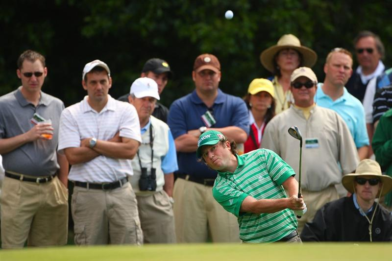 AUGUSTA, GA - APRIL 10:  Tim Clark of South Africa plays a shot on the first hole during the second round of the 2009 Masters Tournament at Augusta National Golf Club on April 10, 2009 in Augusta, Georgia.  (Photo by Andrew Redington/Getty Images)