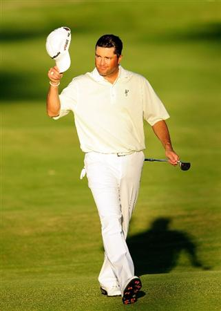HONOLULU, HI - JANUARY 16:  Ryan Palmer walks down the 18th hole during the third round of the Sony Open at Waialae Country Club on January 16, 2010 in Honolulu, Hawaii.  (Photo by Sam Greenwood/Getty Images)