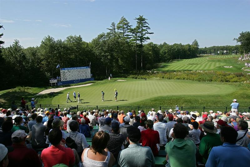 NORTON, MA - SEPTEMBER 05:  A scenic of the 18th green during the second round of the Deutsche Bank Championship at TPC Boston held on September 5, 2009 in Norton, Massachusetts.  (Photo by Michael Cohen/Getty Images)