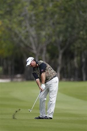 PLAYA DEL CARMEN, MEXICO - FEBRUARY 26:  Boo Weekley hits his second shot on the third fairway during the third round of the Mayakoba Golf Classic at Riviera Maya-Cancun held at El Camaleon Golf Club on February 26, 2011 in Playa del Carmen, Mexico.  (Photo by Michael Cohen/Getty Images)