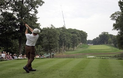 Jeff Sluman during the first round of the 88th PGA Championship at Medinah Country Club in Medinah, Illinois, on August 17, 2006.Photo by Mike Ehrmann/WireImage.com
