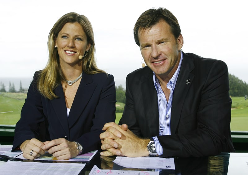 Nick Faldo and Kelly Tilghman