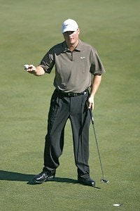 Chad Campbell the final round of the 2006 Masters at the Augusta National Golf Club in Augusta, Georgia on April 9, 2006.Photo by Hunter Martin/WireImage.com