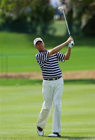 ORLANDO, FL - MARCH 27:  Davis Love III of the USA hits his second shot at the 10th hole during the third round of Arnold Palmer Invitational presented by MasterCard at the Bayhill Lodge and Club on March 27, 2010 in Orlando, Florida.  (Photo by David Cannon/Getty Images)