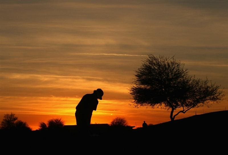 SCOTTSDALE, AZ - FEBRUARY 06:  Bubba Watson putts on the ninth hole green during the final round of the Waste Management Phoenix Open at TPC Scottsdale on February 6, 2011 in Scottsdale, Arizona.  (Photo by Christian Petersen/Getty Images)