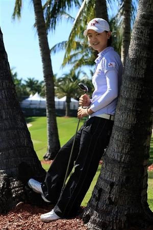 WEST PALM BEACH, FL - NOVEMBER 18:  LPGA player Na Yeon Choi poses for a portrait prior to the start of the ADT Championship at the Trump International Golf Club on November 18, 2008 in West Palm Beach, Florida.  (Photo by Scott Halleran/Getty Images)