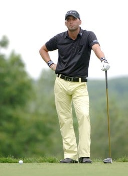 Hank Kuehne waits to tee off on the 15th hole during the second round of the 2005 Cialis Western Open at Cog Hill Golf and Country Club in Lemont, Illinois on Friday, July 1, 2005.Photo by Al Messerschmidt/WireImage.com