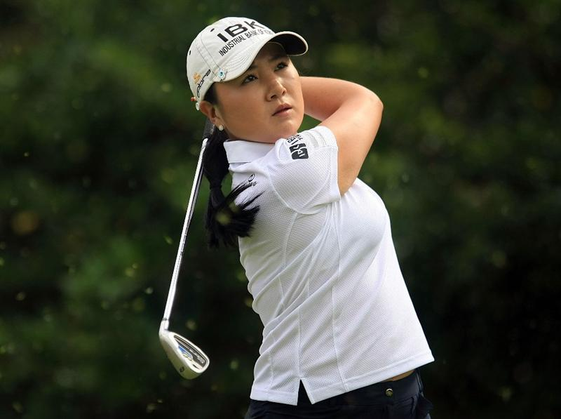WEST PALM BEACH, FL - NOVEMBER 23:  Jeong Jang of South Korea hits her tee shot on the 11th hole during the final round of the ADT Championship at the Trump International Golf Club on November 23, 2008 in West Palm Beach, Florida.  (Photo by Scott Halleran/Getty Images)