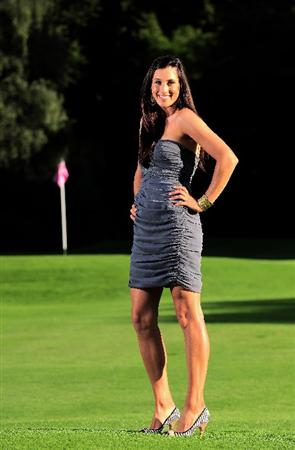 EVIAN-LES-BAINS, FRANCE - JULY 25:   Maria Verchenova of Russia poses for a picture on the par 3 course at the Royal Hotel after the third round of the Evian Masters at the Evian Masters Golf Club on July 25, 2009 in Evian-les-Bains, France.  (Photo by Stuart Franklin/Getty Images)