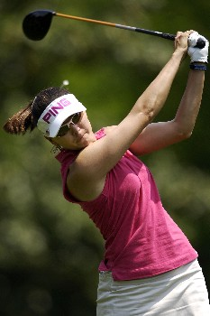 WILLIAMSBURG, VA - MAY 12:  Stacy Prammanasudh hits her tee shot at the 7th hole in Round 3 of the LPGA Michelob ULTRA Open at Kingsmill on May 12, 2007, in Williamsburg, Virginia.  (Photo by Jonathan Ernst/Getty Images)