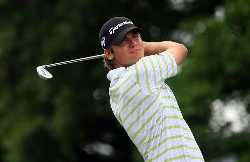 ORLANDO, FL - MARCH 28:  Sean O'Hair hits his tee on the second hole shot during the third round of the Arnold Palmer Invitational at the Bay Hill Club & Lodge on March 28, 2009 in Orlando, Florida.  (Photo by Scott Halleran/Getty Images)