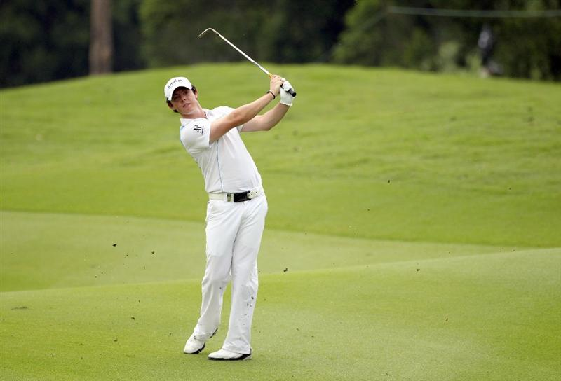 KUALA LUMPUR, MALAYSIA - APRIL 14:  Rory McIlroy of Northern Ireland in action during the first round of the Maybank Malaysian Open at Kuala Lumpur Golf & Country Club on April 14, 2011 in Kuala Lumpur, Malaysia.  (Photo by Ian Walton/Getty Images)