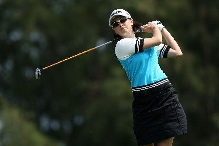 KAHUKU, HI - FEBRUARY 14:  Stacy Prammanasudh hits her tee shot on the seventh hole during the first round of  the SBS Open on February 14, 2008  at the Turtle Bay Resort in Kahuku, Hawaii.  (Photo by Andy Lyons/Getty Images)