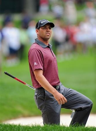 AKRON, OH - AUGUST 06:  Sergio Garcia of Spain during the first round of the World Golf Championship Bridgestone Invitational on August 6, 2009 at Firestone Country Club in Akron, Ohio.  (Photo by Stuart Franklin/Getty Images)