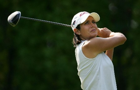 EDMONTON, CANADA - AUGUST 17:  Laura Diaz of the U.S. makes a tee shot during the second round of the LPGA CN Canadian Women's Open 2007 at the Royal Mayfair Golf Club August 17, 2007 in Edmonton, Alberta, Canada.  (Photo by Robert Laberge/Getty Images)