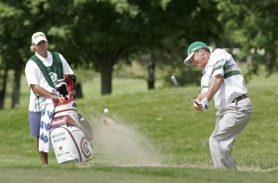 Woody Austin hits from a bunker at #12 during the fourth and final round of the Buick Open held at Warwick Hills Golf & Country Club in Grand Blanc, Michigan, on July 1, 2007. Photo by: Chris Condon/PGA TOURPhoto by: Chris Condon/PGA TOUR