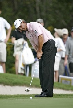 Tom Pernice Jr. during the final round of the Funai Classic held on the Magnolia course at Walt Disney World Resort in Lake Buena Vista, Florida  on Sunday, October 23, 2005.Photo by Sam Greenwood/WireImage.com
