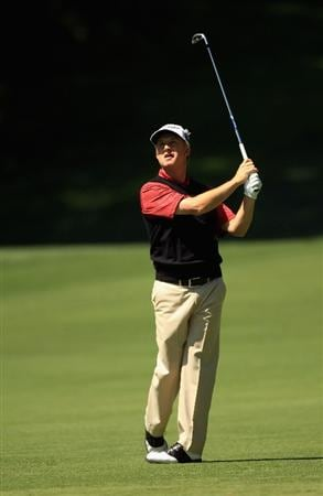 CHARLOTTE, NC - MAY 05:  David Toms hits a shot from the fairway on the 12th hole during the first round of the Wells Fargo Championship at Quail Hollow Club on May 5, 2011 in Charlotte, North Carolina.  (Photo by Streeter Lecka/Getty Images)