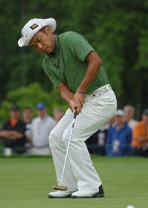 Shingo Katayama during the first round of the 2006 U.S. Open Golf Championship at Winged Foot Golf Club in Mamaroneck, New York on June 15, 2006.Photo by Marc Feldman/WireImage.com