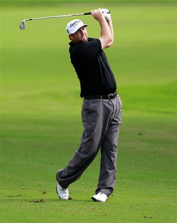 HONOLULU, HI - JANUARY 16:  Steve Marino hits a shot on the 15th hole during the third round of the Sony Open at Waialae Country Club on January 16, 2011 in Honolulu, Hawaii.  (Photo by Sam Greenwood/Getty Images)