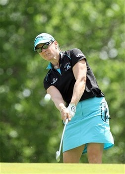 EDINA, MN - JUNE 29:  Annika Sorenstam of Sweden tees off at the fourth hole during the final round of the 2008 U.S. Women's Open Championship held at the Interlachen Country Club June 29, 2008 in Edina, Minnesota.  (Photo by David Cannon/Getty Images)