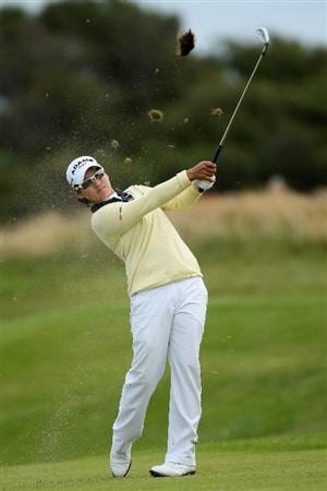 LYTHAM ST ANNES, UNITED KINGDOM - JULY 31:  Yani Tseng of Taiwan hits an approach shot during the second round of the 2009 Ricoh Women's British Open Championship held at Royal Lytham St Annes Golf Club, on July 31, 2009 in  Lytham St Annes, England. (Photo by David Cannon/Getty Images)