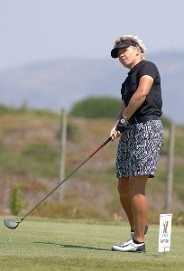 Laurette Maritz during the second day of the Estoril Open at Quinta da Marinha in Cascais, Portugal on June 23, 2006.Photo by CityFiles/WireImage.com