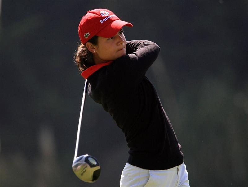 HUIXQUILUCAN, MEXICO - MARCH 20:  Lorena Ochoa of Mexico hits her tee shot on the sixth hole during the first round of the MasterCard Classic at the BosqueReal Country Club on March 20, 2009 in Huixquiucan, Mexico.  (Photo by Scott Halleran/Getty Images)