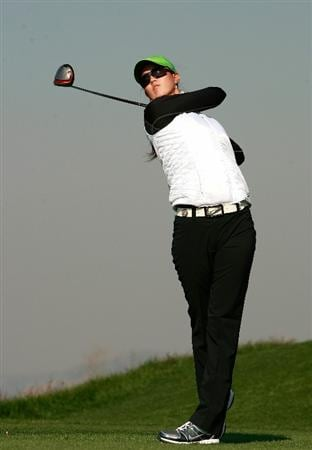 INCHEON, SOUTH KOREA - OCTOBER 29:  Michelle Wie of the United States hits a tee shot on the 3rd hole during the 2010 LPGA Hana Bank Championship at Sky 72 Golf Club on October 29, 2010 in Incheon, South Korea.  (Photo by Chung Sung-Jun/Getty Images)