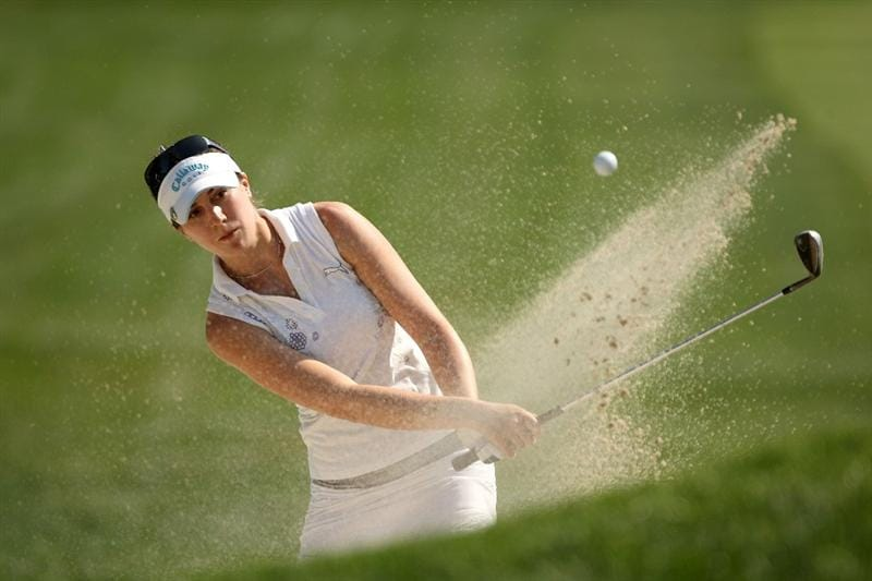 BETHLEHEM, PA - JULY 10:  Sandra Gal of Germany hits from out of the sand on the 7th hole during the second round of the 2009 U.S. Women's Open at Saucon Valley Country Club on July 10, 2009 in Bethlehem, Pennsylvania.  (Photo by Streeter Lecka/Getty Images)