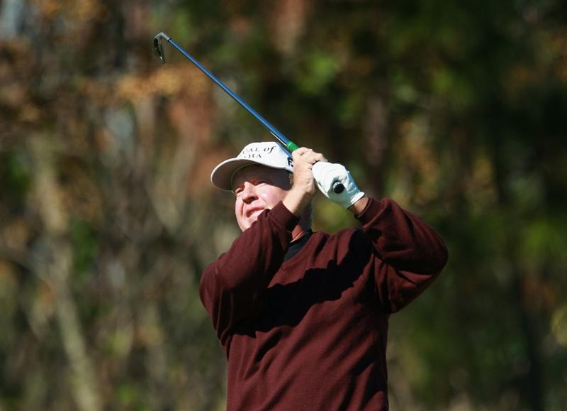 WINTER GARDEN, FL - DECEMBER 06:  Billy Mayfair hits a tee shot during the final round of the PGA Tour Qualifying Tournament at Orange County National on December 6, 2010 in Winter Garden, Florida.  (Photo by Scott Halleran/Getty Images)