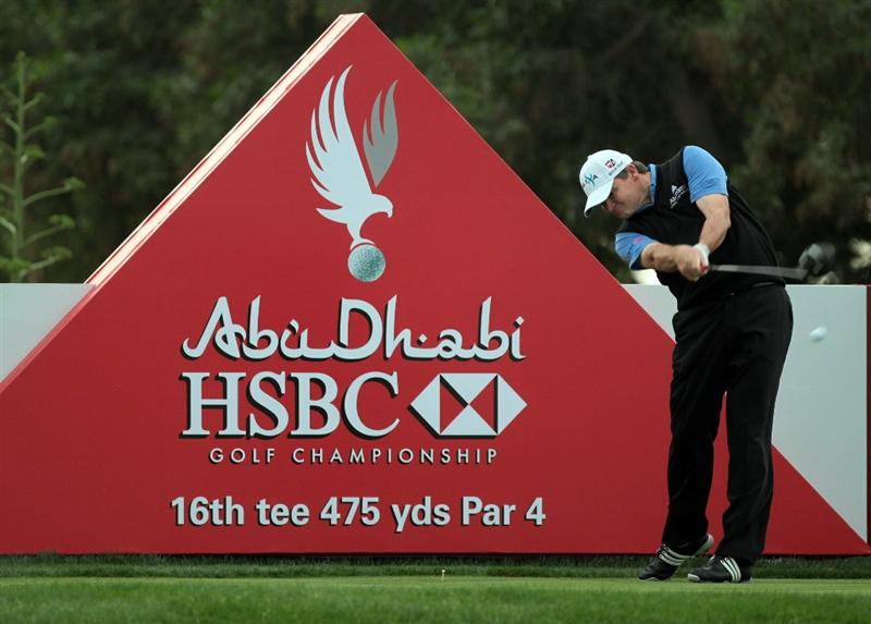 ABU DHABI, UNITED ARAB EMIRATES - JANUARY 19:  Paul Lawrie of Scotland during the pro-am as a preview for the 2011 Abu Dhabi HSBC Golf Championship to be held at the Abu Dhabi Golf Club on January 19, 2011 in Abu Dhabi, United Arab Emirates.  (Photo by David Cannon/Getty Images)