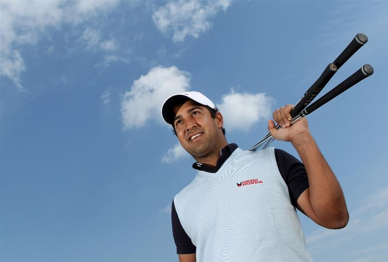 VIRGINIA WATER, ENGLAND - MAY 18:  Shiv Kapur of India poses for a portrait prior to the BMW PGA Championship on the West Course at Wentworth on May 18, 2010 in Virginia Water, England.  (Photo by Warren Little/Getty Images)