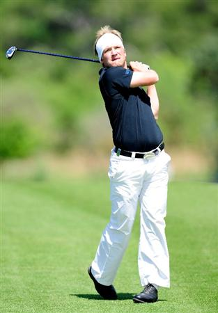 MALLORCA, SPAIN - MAY 15:  Pelle Edberg of Sweden plays his approach shot on the 10th hole during the third round of the Open Cala Millor Mallorca at Pula golf club on May 15, 2010 in Mallorca, Spain.  (Photo by Stuart Franklin/Getty Images)