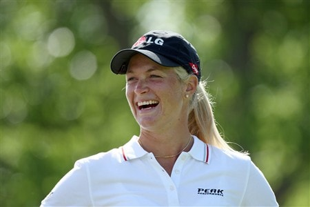 EDINAH, MN - JUNE 24:  Suzann Pettersen of Norway on the 4th tee during practice for the 2008 US Womens Open Championship held at The Interlachen Country Club, on June 24, 2008 in Edinah, Minnesota.  (Photo by David Cannon/Getty Images)