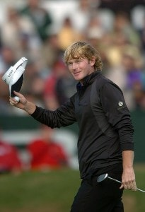 Brandt Snedeker acknowledges the gallery after finishing on the 18th green on the South Course during the third round of the 2007 Buick Invitational at Torrey Pines Golf Course in La Jolla, California on January 27, 2007. PGA TOUR - 2007 Buick Invitational - Third RoundPhoto by Steve Grayson/WireImage.com