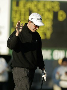 Stephen Leaney eagles the second hole during the final round of the Verizon Heritage Classic at the Harbour Town Golf Links in Hilton Head, South Carolina on April 16, 2007 Photo by Michael Cohen/WireImage.com