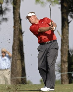 Defending champion Carl Pettersson on the fifth hole during the second round of the 2006 Chrysler Championship held at the Westin Innisbrook Golf Resort in Palm Harbor, Florida on October 27, 2006. PGA TOUR - 2006 Chrysler Championship - Second RoundPhoto by Al Messerschmidt/WireImage.com